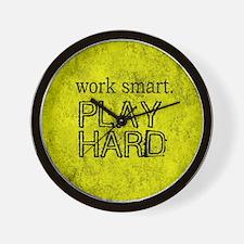 WORK SMART PLAY HARD BOX Wall Clock