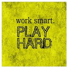 WORK SMART PLAY HARD BOX Framed Print