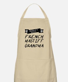 Worlds Best French Mastiff Grandma Apron