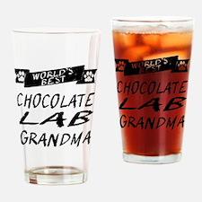 Worlds Best Chocolate Lab Grandma Drinking Glass