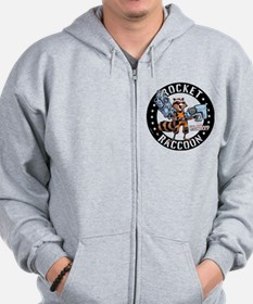 GOTG Comic Rocket Guns Zip Hoodie