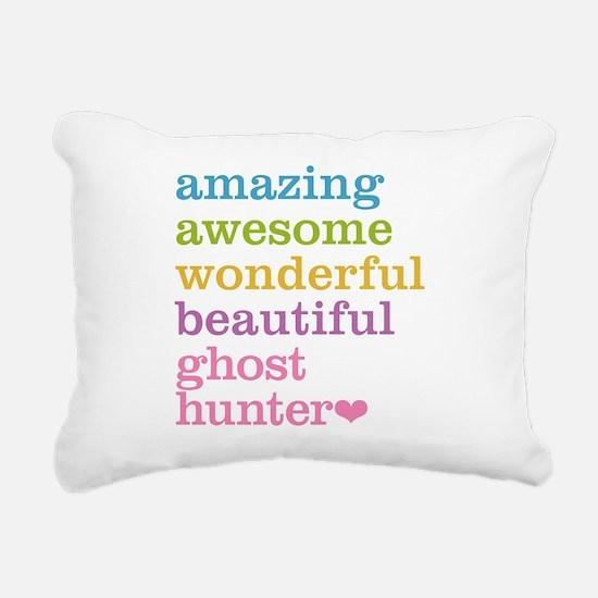 Amazing Ghost Hunter Rectangular Canvas Pillow