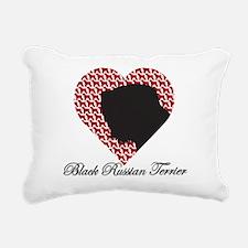 BLACK RUSSIAN TERRIER Rectangular Canvas Pillow