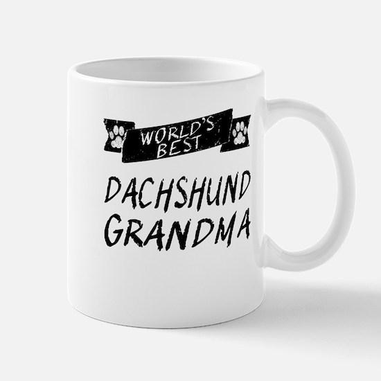 Worlds Best Dachshund Grandma Mugs