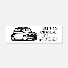 Vintage Fiat 500 World Travel De Car Magnet 10 X 3