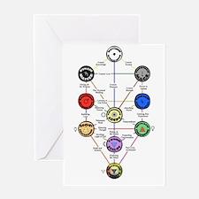Master New Hermetics Tree Greeting Card