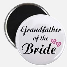 """Grandfather of the Bride 2.25"""" Magnet (10 pack)"""