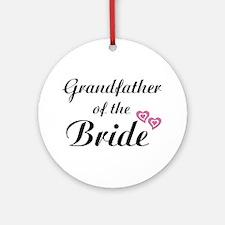 Grandfather of the Bride Ornament (Round)