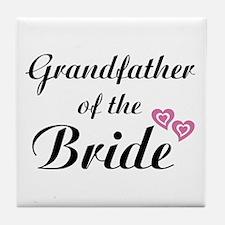 Grandfather of the Bride Tile Coaster