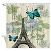 floral paris vintage eiffel tower Shower Curtain