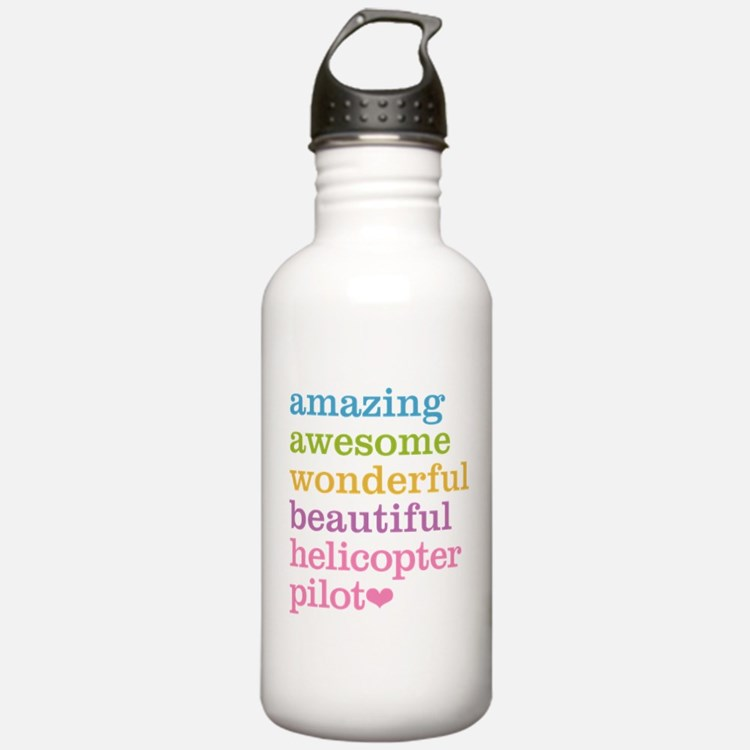Amazing Helicopter Pil Water Bottle