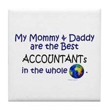 Best Accountants In The World Tile Coaster