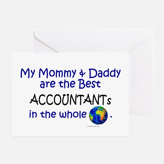Best Accountants In The World Greeting Card