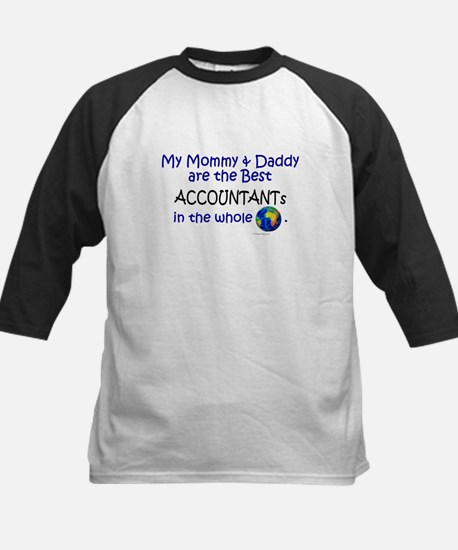 Best Accountants In The World Kids Baseball Jersey
