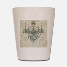 shabby chic damask vintage chandelier Shot Glass