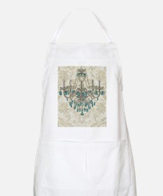 shabby chic damask vintage chandelier Apron
