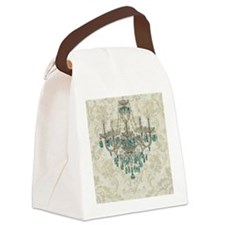 shabby chic damask vintage chande Canvas Lunch Bag