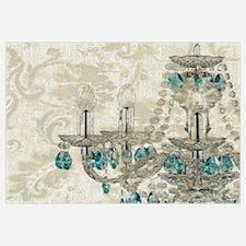 shabby chic damask vintage chandelier