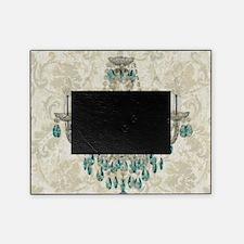 shabby chic damask vintage chandelie Picture Frame