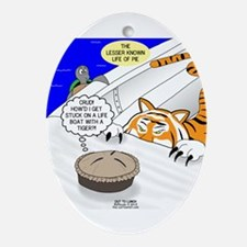 The Life of Pie Oval Ornament