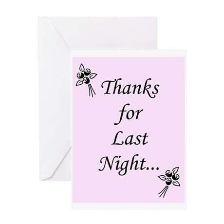 One Night Stand Greeting Card (guy to girl)