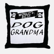 Worlds Best Dog Grandma Throw Pillow