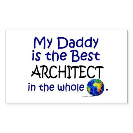 Best Architect In The World (Daddy) Sticker (Recta