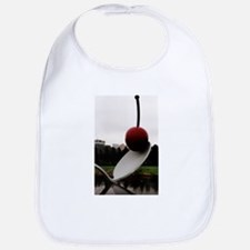 Cherry and Spoon Bib