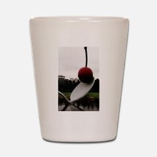 Cherry and Spoon Shot Glass