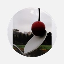 Cherry and Spoon Round Ornament