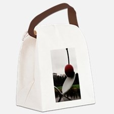 Cherry and Spoon Canvas Lunch Bag