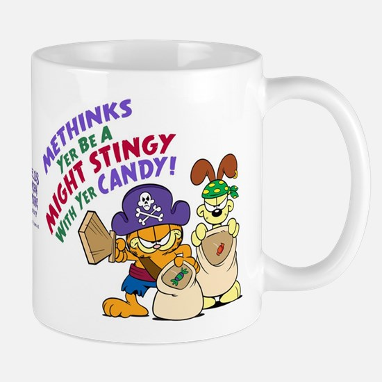Garfield Stingy Candy Mugs