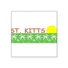 "Cute Saint kitts and nevis Square Sticker 3"" x 3"""