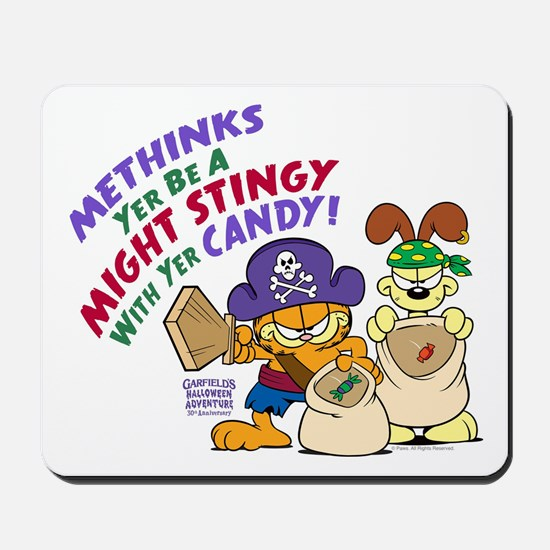 Garfield Stingy Candy Mousepad