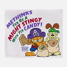 Garfield Stingy Candy Throw Blanket