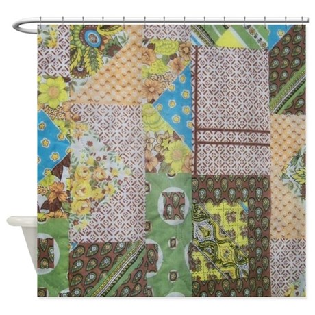 Vintage Quilt Pattern Shower Curtain By GiftsfromWashington