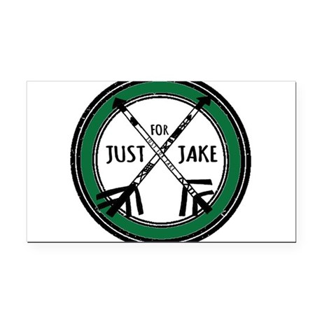 Just For Jake Logo - Green Rectangle Car Magnet by ...