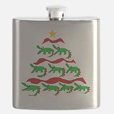 Funny Alligator Christmas Tree Flask