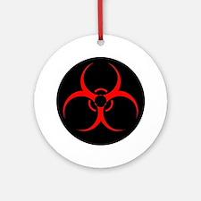 Cute Biohazard symbol Round Ornament