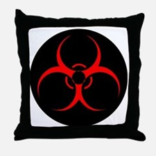 Cute Biohazard symbol Throw Pillow