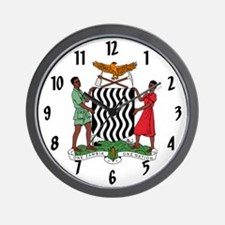 Coat of Arms of Zambia Wall Clock