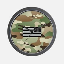 New Camouflage Pattern with IR Flag Wall Clock