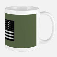IR U.S. Flag on Military Green Backgrou Mug
