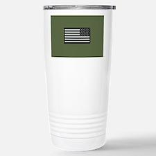 IR U.S. Flag on Militar Travel Mug