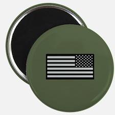 IR U.S. Flag on Military Green Background Magnet