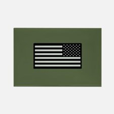 IR U.S. Flag on Military Green Ba Rectangle Magnet