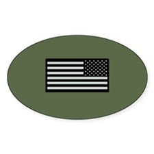 IR U.S. Flag on Military Green Back Decal