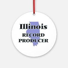 Illinois Record Producer Round Ornament