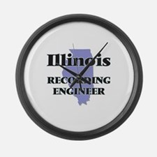 Illinois Recording Engineer Large Wall Clock