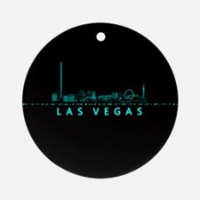 Digital Cityscape: Las Vegas, Nevad Round Ornament